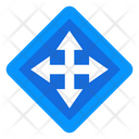 Road Intersection Crossroad Highway Icon