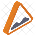 Road Jump Sign Icon