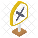 Road Intersection Crossroad Intersection Road Junction Icon