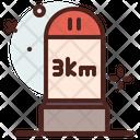 Road Km Icon