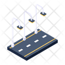 Street Lights Road Lights Night Road Icon