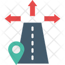 Road Location Direction Road Icon