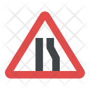 Road Narrow From The Right Side Icon