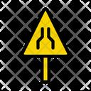Road Narrows Ahead Icon