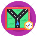 Road Location Road Navigation Compass Road Direction Icon