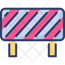 Road Obstruction Safety Sign Icon