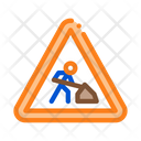 Road Repair Mark Icon