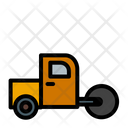 Road Roller Bulldozer Construction Icon