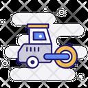 Road Roller Bulldozer Soil Compactor Icon
