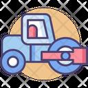 Road Rollerashpalt Paver Road Paver Roller Icon