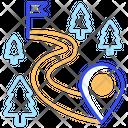 Road Route Icon