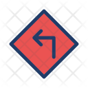 Road Sign Left Icon