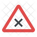 Road Sign Intersection Icon