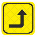 Road Sign Turn Icon
