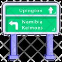 Road Signage Board Road Post Traffic Board Icon