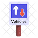 Road Signboard Two Way Road Road Post Icon