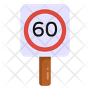 Road Speed 60 Speed Road Post Icon