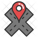 Road Tracking Winding Icon
