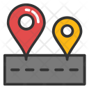 Road Tracking Pin Icon