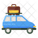 Road Trip Travelling Camping Car Icon