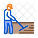 Worker Road Repair Icon
