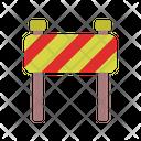 Roadblock Construction Danger Icon