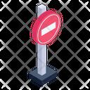 Prohibited Board Roadblock Board Traffic Block Icon
