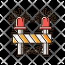 Roadblock With Siren Icon