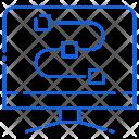 Roadmap Monitor Cpu Icon