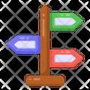 Sign Board Roadpost Direction Board Icon