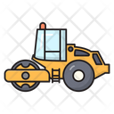 Roadroller Construction Vehicle Icon