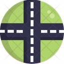 Roads Junction Road Icon