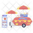 Roadside Food Food Wagon Food Cart Icon