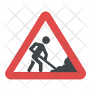 Roadworks Sign Traffic Icon