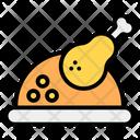Roast Drumstick Chicken Piece Icon