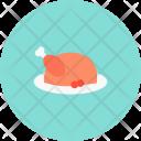 Roast Turkey Chicken Icon