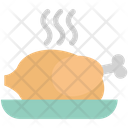Roast Chicken Grilled Food Icon