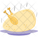 V Roast Chicken Grilled Food Icon