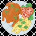 Roasted Turkey Chicken Icon