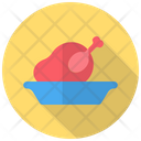 Chicken Roasted Wing Icon