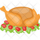 Roast Chicken Baked Icon