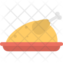 Fried Chicken Grilled Icon