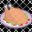 Roasted Chicken Platter Fried Chicken Broasted Chicken Icon