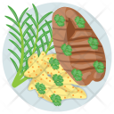 Roasted Steak Icon