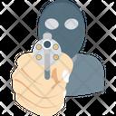 Robber Dacoit Terrorist Icon
