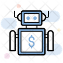 Financial Advisor Robo Advisor Fintech Intelligence Icon