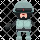 Robocop Character Man Icon