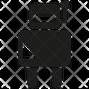 Robot Cartoon Character Icon