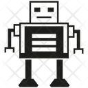 Robot Cartoon Character Icon