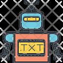 Robot Robot Txt Txt Icon